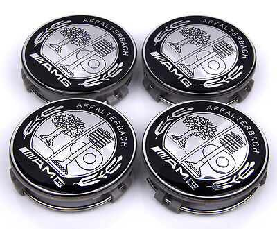 4×75mm Alloy Wheels Center Caps Hub Cap Hub Cover Emblem Badge For AMG CLK ML CL