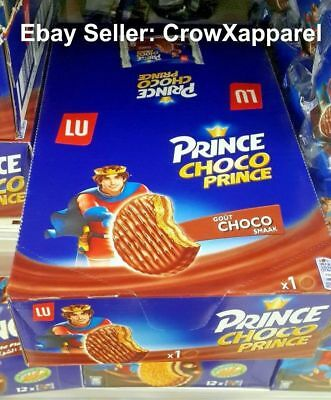 LU PRINCE CHOCO Double Chocolate Biscuits 40pcs 1.2KG Box -Made in BELGIUM-