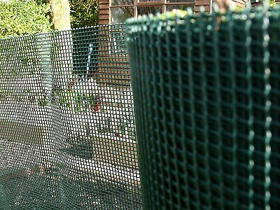Plastic Garden Fencing 1m x 10m Green 5mm Green Netting Fence Mesh - Ideal for