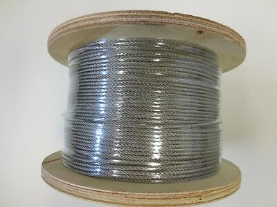 Marine Stainless Steel Wire G316 Wire Balustrade Cable Rope 3.2mm 1 x 19  -305m