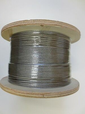 Marine Stainless Steel Wire G316 Wire Balustrade Cable Rope 1 x 19 Decking -200m