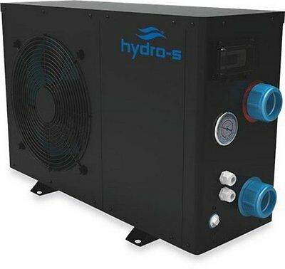 Hydro S Eco 8 Swimming Pool or Pond Water Heater - New 2017 Black Casing Model
