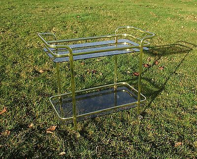 Bar Cocktail Entertainment Cart Trolley Smoked Glass Beautiful Practical