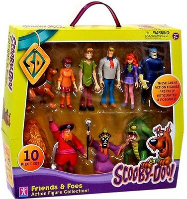 Scooby Doo Friends/foes Figure Collection-10 Figures Inc 5 Monsters-Velma/shaggy