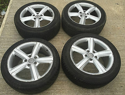 """Used 20"""" Genuine Audi Q7 Alloy Wheels 5X130 Fitted With Tyres"""
