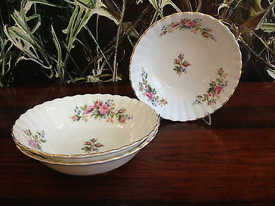 ROYAL ALBERT England - Bone China - MOSS ROSE - 3 Dessertschalen / Salatschalen