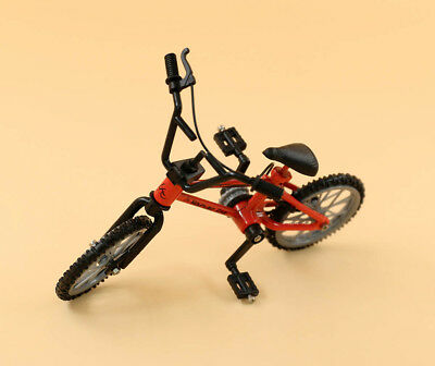 Dollhouse Miniature 1: 12 Scale Bike Bicycle Red Mountain Bike Finger Toy