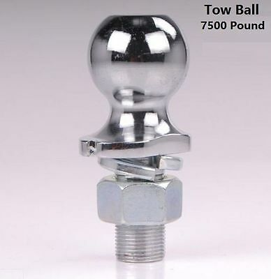 "2-5/16"" inch Chrome Tow Ball Caravan Trailer USA Couplers 7500 Pound Heavy Duty"
