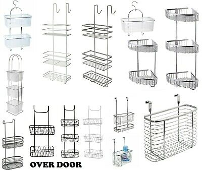 Chrome Stainless Steel Non Rustic Plastic Shower Soap Caddy Organiser Rack Tidy