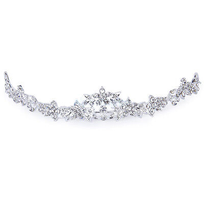 Rhinestone Flower Princess Prom Crown Headpiece Wedding Tiara Headband
