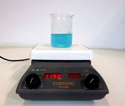 "Corning PC-420D Digital Hot Plate Magnetic Stirrer Mixer 5"" x 7"" Lab Laboratory"