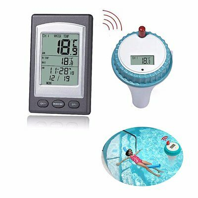 Floating Thermometer, GOCHANGE Wireless Digital Floating Swimming Pool / Remote