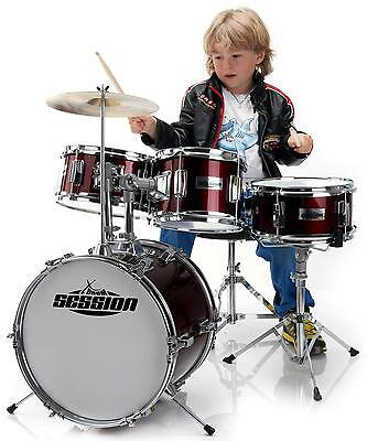 "Drums Set 14"" Childrens Drum Kit Junior Kids Percussion Instrument Sticks Cymbal"