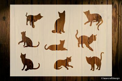 Cats Stencil, Various Sizes To Choose From, Easy Cleaned And Reusable, Crafts