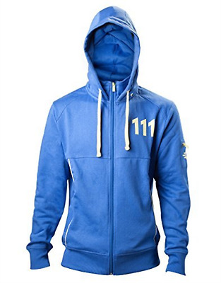 FALLOUT-FALLOUT 4 Adult Male Vault 111 Billed Full Length Zipper Hoodie,  AC NEW