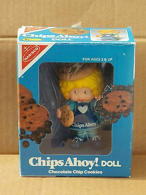 "Vintage (1983) Nabisco Chips Ahoy Doll 4"" Tall Original Box"