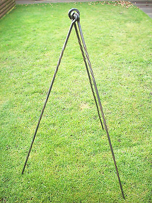 Cooking Tripod Deluxe Twisted Long Heavy Duty  Bushcraft / Reenactment/ Camping