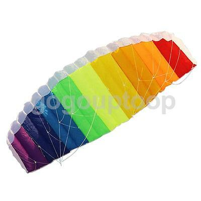 1.4m Dual Line Control Parafoil Rainbow Parachute Outdoor Kite Flying Toy