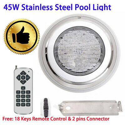LED Swimming Pool Light Underwater SPA 45W RGB 7 Colours Remote Control P-1A