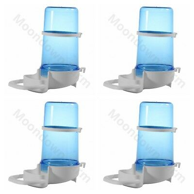 4 x Bird Feeder Water Drinker Seed Clipper Fountain Cage Budgie Finch Cockatiels