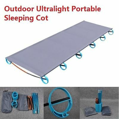 New Camping Bed Ultralight Folding Durable Sleeping Cot Fast Easy Setup Portable