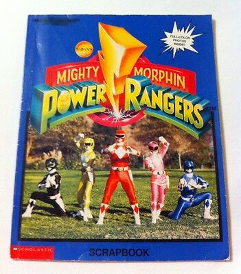 Rare Vintage 1994 Mighty Morphin Power Rangers Scrapbook w/Colored Photos
