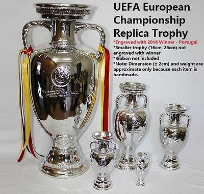 Replica UEFA European Championship Trophy Euro Cup Nations Engraved 2016 Winner