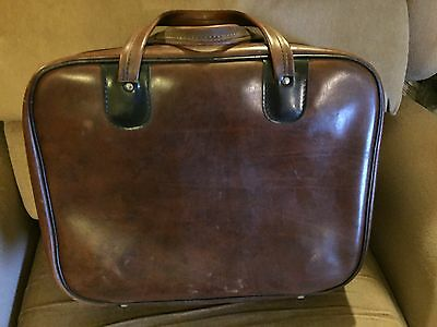 Vintage Leather Lawn Bowls Holdall With Inner Supports