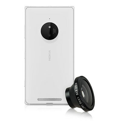 kwmobile MAGNETIC CAMERA LENS FOR NOKIA LUMIA 830 BLACK SMARTPHONE MOBILE