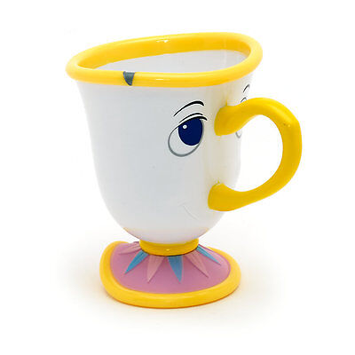 Disney Store Beauty & The Beast Chip 3D Character Plastic Cup Mug New