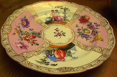 19th C MEISSEN / DRESDEN HAND PAINTED  PLATE c1880 7.5 inches a/f