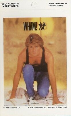 Wham! George Michael Collectible 1985 Self Adhesive Mini-Poster MINT