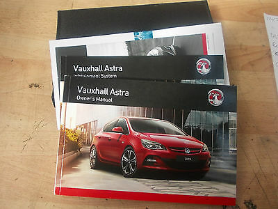 2012 2013 2014 Vauxhall Astra Mk6 J Owners Handbook Manual User Guide & Wallet