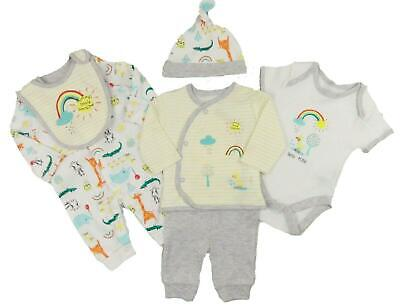 Boys Blue Layette Basics 8 Pce Set Sleepsuit Vest BodySuit Hat Bib Mitts RRP £12