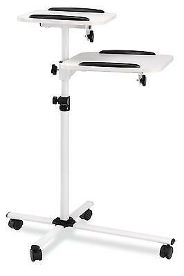 Projector Trolley Ajustable 70Cm To 110Cm Beamer Panel Table Stand 4 Wheels