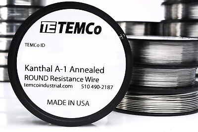 TEMCo Kanthal A1 wire 25 Gauge 1 lb Resistance AWG A-1 ga