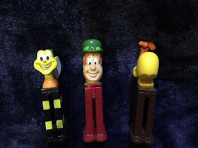 3 Mini Vintage General Mills Cereal Pez Dispensers - Cocoa Lucky Charms Honeynut