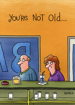 Man And Woman At Bar Funny Birthday Card