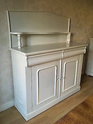 Large Painted Antique Chiffonier/Sideboard