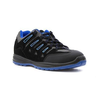 Earth Works Safety - Earthworks Mens Black and Blue Lace Up Safety Shoe