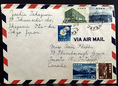 Japan Airmail Cover to Canada .