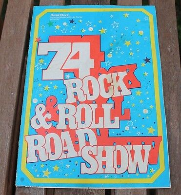 Rare 1974 Rock & Roll Concert Program Signed By Heinz. Billy Fury Marty Wilde +