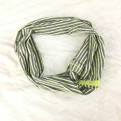 NWOT Ivivva by Lululemon Village Chill Scarf Yellow and Gray Stripes