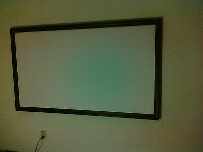 """projector screen 16 9 RAW / BARE Material 104""""x63"""" Matte White 1.0 Gain USA Made"""