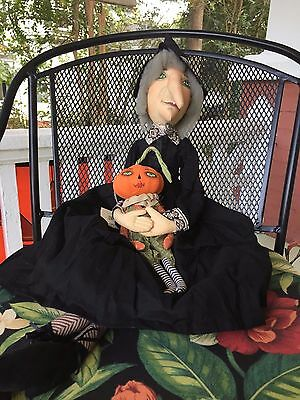 Joe Spencer Gathered Traditions Marleigh Witch and Pumpkin (FGS71640)