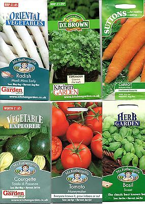 Vegetable seeds - Pick & Mix packets of vegetables, herbs and fruit seeds
