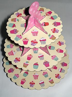 3 Tier Cupcake Stand - cardboard Cup cake (muffin)  Birthday,Christmas Party