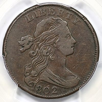 1802 S-225 R-3- PCGS VF 35 Draped Bust Large Cent Coin 1c