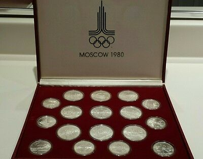 1980 Moscow  Olympic  28 fine silver coins Set