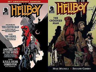 Hellboy the crooked man #1 & Hellboy 20th anniversary sampler (VO - état VF/NM)